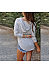 Hooded Stripes Long Sleeve V Neck T-Shirts