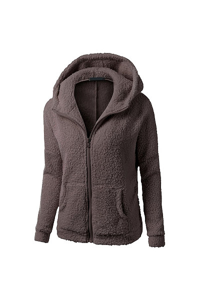 Hoode Long Sleeve Plain Outerwear