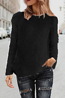 Round Neck  Plain Sweaters