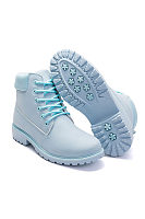 Plain  Chunky  Low Heeled  Faux Leather  Criss Cross  Round Toe  Casual Boots