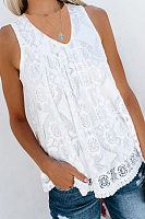 Casual V Neck Lace T-Shirts