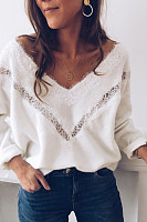 Casual V-Neck Ladies Knit Sweater
