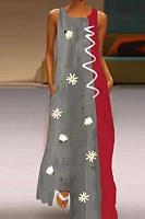 Casual printed long dress