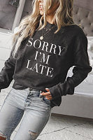 Round Neck Letters Sweatshirt