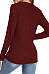 V Neck  Brief  Plain  Long Sleeve  Knit Pullover