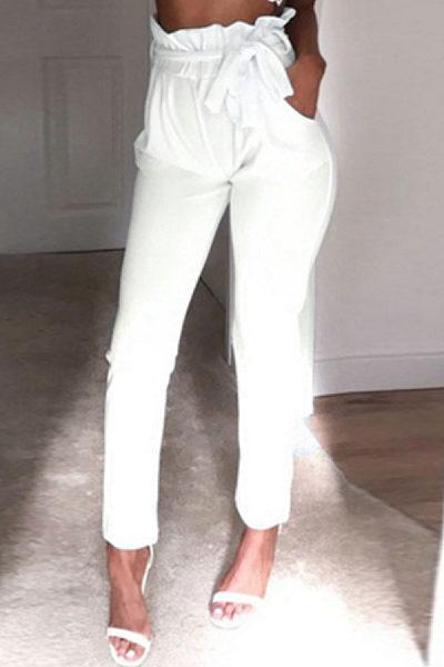 Ruched  Belt Pegged Pants