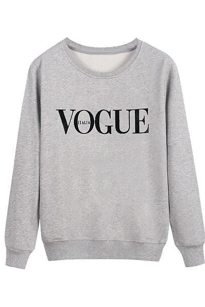 Round Neck Patchwork Letters Hoodies Sweatshirts