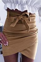Sexy Cross Straps Skirt