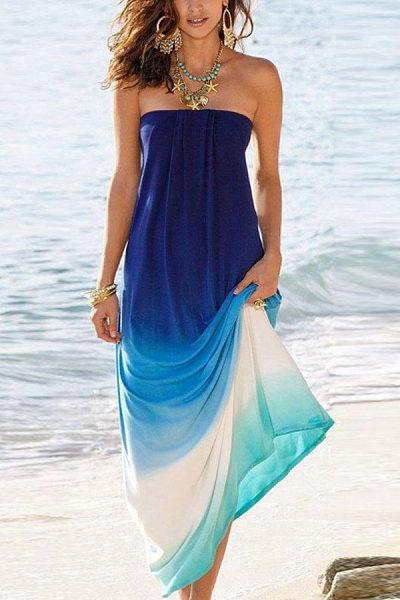 Tube Top Sleeveless Solid Dress