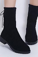 Flat  Casual  Elegant  Plain  Boots