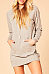 Hooded  Drawstring Kangaroo Pocket Bodycon Dresses