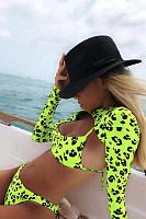Leopard Sexy Backless Bikini