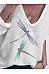 Dragonfly Print V-neck Long Sleeve Top