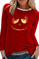 Halloween Printed Long Sleeve T-Shirt