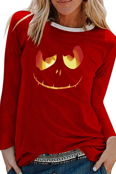 Halloween Printed Long Sleeve T-Shirt