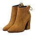 Bowknot Side Zipper Plain Ankle Boots