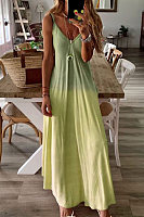 V-neck sleeveless solid dress