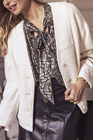 Women's Fashion Casual Solid Coat