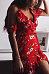 Spaghetti Strap  Asymmetric Hem  Floral Printed  Short Sleeve Casual Dresses
