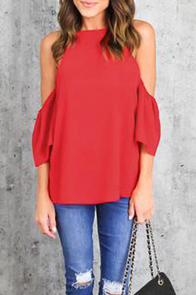 Spaghetti Strap Plain Half Sleeve T-shirts