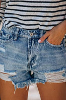 Washed and ripped jeans