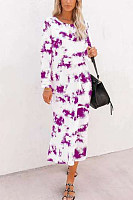 Women Casual Tie-dye Maxi Dress