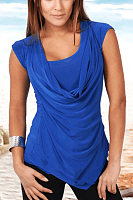 Round neck sleeveless solid color vest