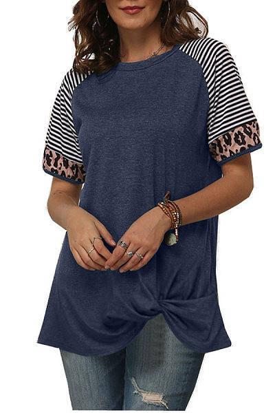 Round Neck Short Sleeve Colouring T-shirt