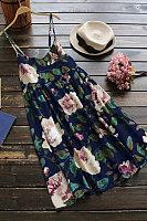 Casual Sweet print camisole maxi dress