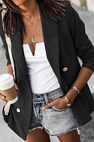 Women Fashion Plain Blazers