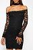 Halter  Patchwork  Lace Plain Bodycon Dresses