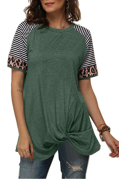 Round Neck Short Sleeve Colouring T-shirt