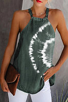 Women's Tie-Dye Strapless Sleeveless Vest