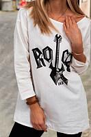 Rock Long Sleeve Loose T-shirt