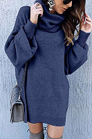 Cowl Neck  Plain Sweaters