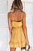 Spaghetti Strap  Loose Fitting  Printed  Sleeveless Skater Dresses