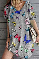 2020 Butterfly Printed Casual Dress