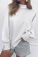 Women's round neck Palin long sleeve shirt T-shirt