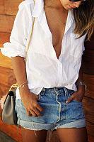 Turn Down Collar  Single Breasted  Plain Shirts
