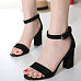 Ankle Strap Chunky Plain Sandals