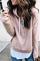 Casual  Plain  Long Sleeve Hoodies