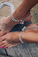 Bohemian Retro Round Bell Foot Chain