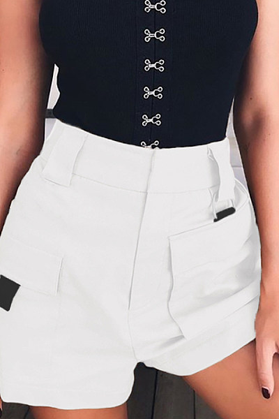 Short  Plain  Casual  Pants