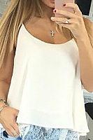 Spaghetti Strap  Lace Plain Camis