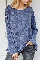Pullover Thin Round Neck Straight Sweater
