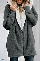 Casual Zipper Cardigan With Hood Jacket