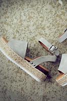 Plain  Velvet  Peep Toe  Casual Platform Sandals