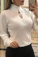 Department Of Leadership Plain Casual Blouse