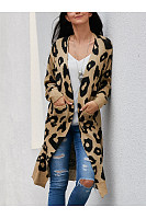 Leopard Printed Basic Cardigans