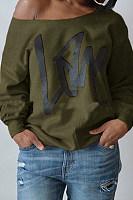 Letter Print Long Sleeve Sweatshirt
